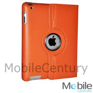 smart cover leather case rotating stand . Perfect fit for all ports