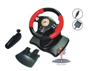NEW Gaming Steering Wheel + Foot Pedal+ Gearbox PC/PS2