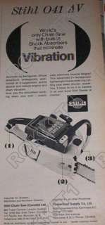 1968 Stihl 041 AV Chain Saw AD