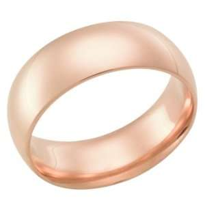7.0 Millimeters Rose Gold Heavy Wedding Band Ring 18kt Gold