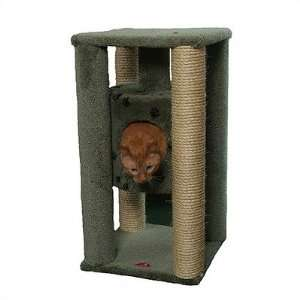 Cat Condo with Sisal Scratching Posts Color Fawn Pet Supplies