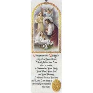 with Communion Prayer in Spanish, 2.25 x 6   Girl