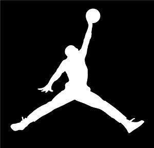 Micheal Air Basketball Logo Symbol Car Vinyl Window Decal Sticker