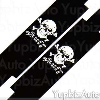 11P Skull Universal Car Seat Covers Steering Wheel Set