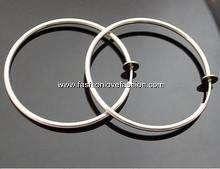 Pair Spring Clip On Hoops Earrings Silvertone 8 Sizes