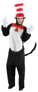 In The Hat Dr. Seuss Costume Kit Adult Men or Womens S M L XL