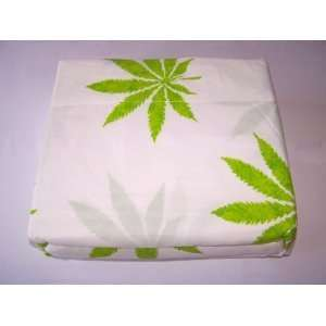 Marijuana Leaf Weed Pot Cannibis Leaf on White Background Sheet Set