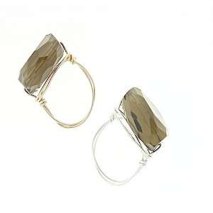 Smokey Quartz Wire Wrapped Ring: Jewelry